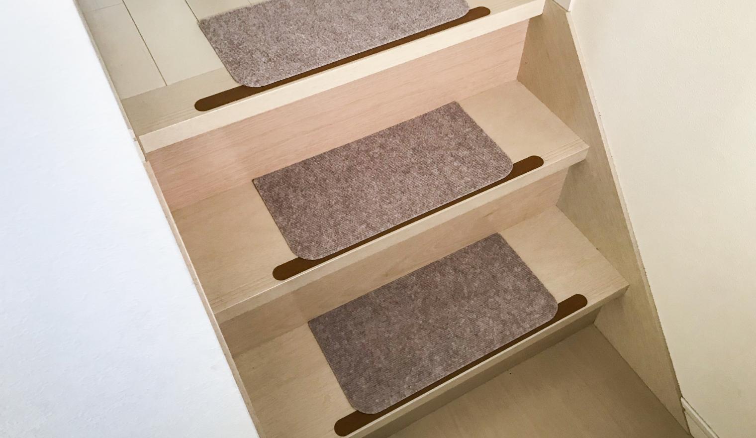 洗える階段カーペット使用例