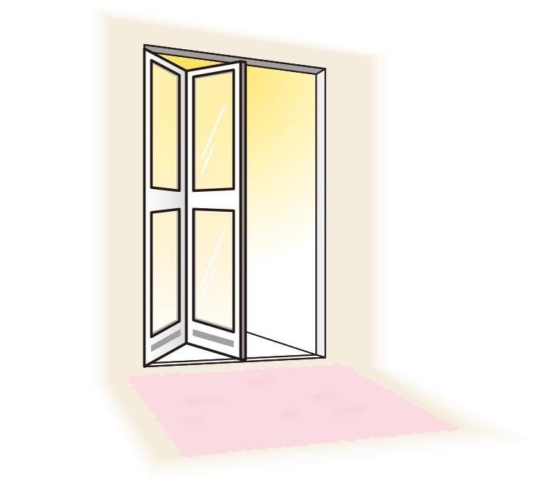 ポリスチレンの例、浴槽の扉