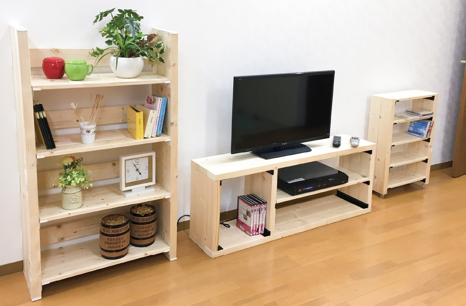 ウォリストで作った小型家具