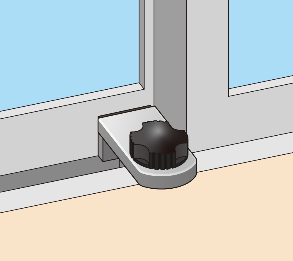 窓枠ぴったりに設置した場合 窓は開かない