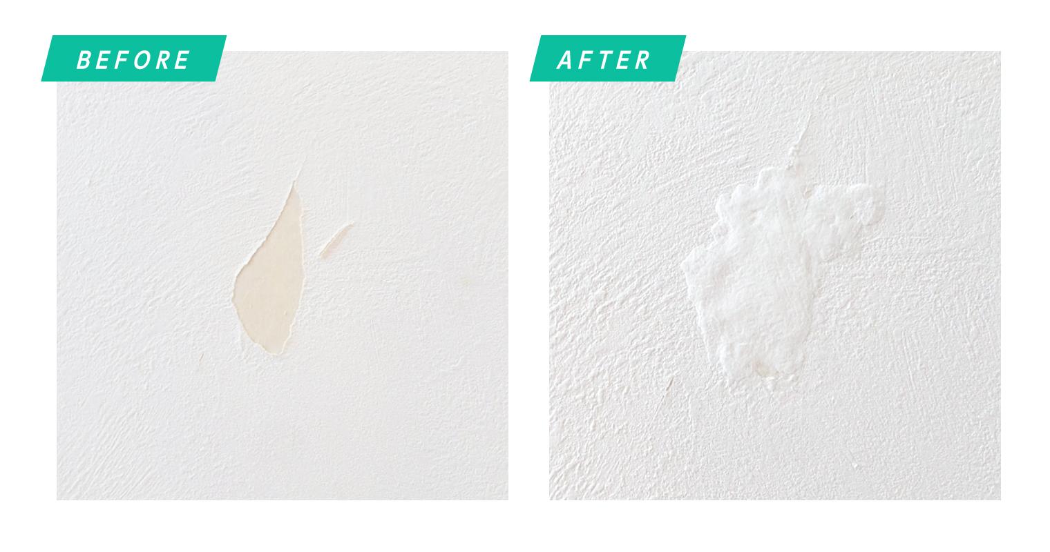 壁の補修before after